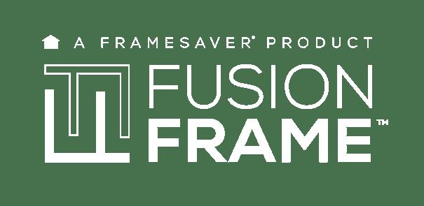 FusionFrame Logo - A FrameSaver Product - White-01